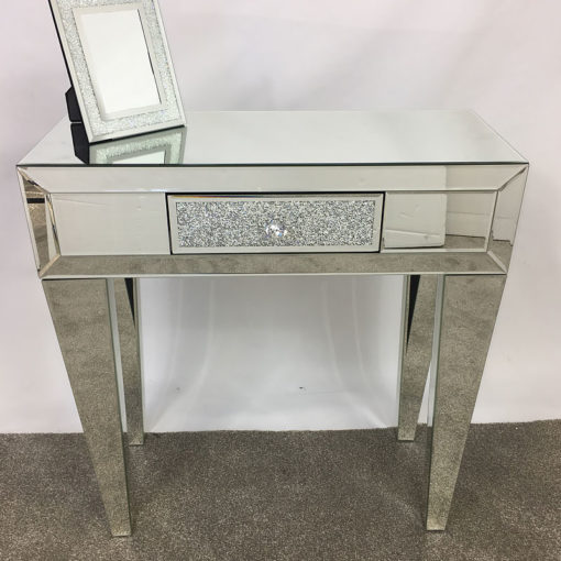 Diamond Glitz 1 Drawer Mirrored Console table