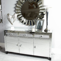 Diamond Glitz 3 Door Mirrored Sideboard
