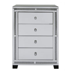 Diamond Glitz 4 Drawer Tallboy Chest