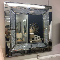 Diamond Glitz Large Square Wall Mirror