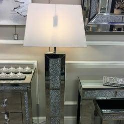 Diamond Glitz Mirrored Floor Lamp