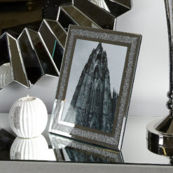 "Diamond Glitz Silver Mirrored Photo Frame (8x10"")"