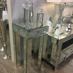 Diamond Glitz Mirrored Telephone Table