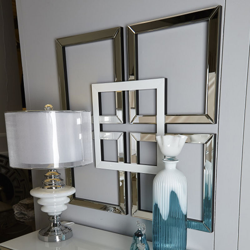 Madison White Geo Mirror Wall Art | Picture Perfect Home