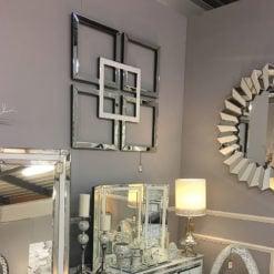 Madison White Geo Mirror Wall Art