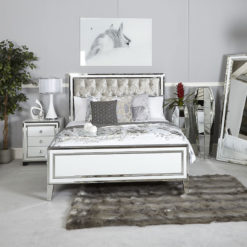 madison white glass 7 drawer mirrored dressing table 12428 | madison white mirrored king size bed frame 247x247