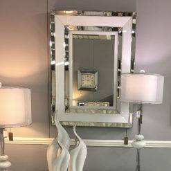 Madison White Rectangular Wall Mirror