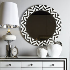 Madison White Tiled Wall Mirror