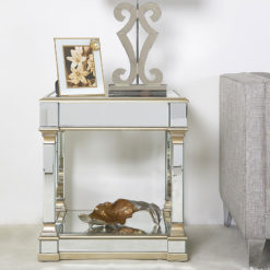 Athens Gold Mirrored End Side Table