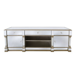 Athens Gold Mirrored TV Entertainment Stand