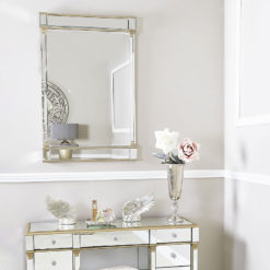 Athens Gold Rectangular Wall Mirror