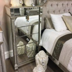 Athens Mirrored 6 Drawer Tallboy