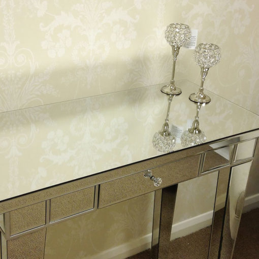 Classic Mirror 1 Drawer Mirrored Console Table