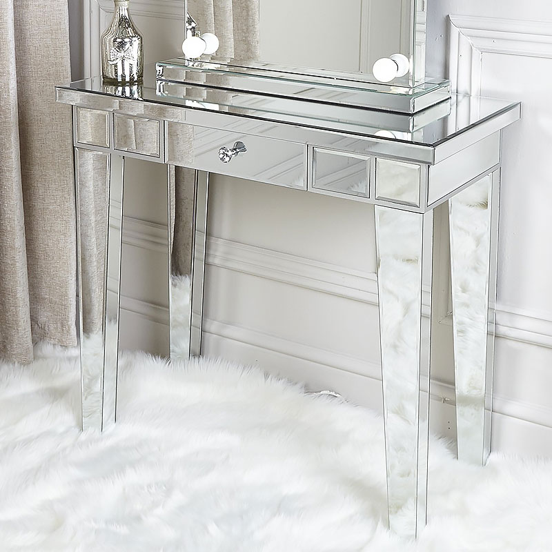 Classic Mirror 1 Drawer Mirrored, How To Mirror A Table