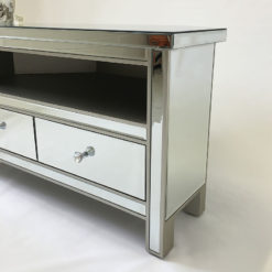 Classic Mirror Corner TV Entertainment Cabinet