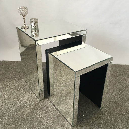 Classic Mirror Nest of 2 End Tables