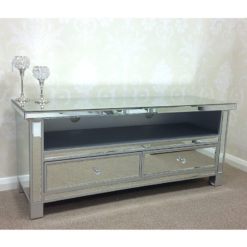 Classic Mirror Mirrored Widescreen TV Entertainment Stand