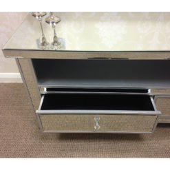 Classic Mirror Widescreen TV Entertainment Stand