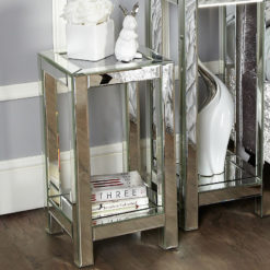 Diamond Crush Mirrored Medium End Lamp Table