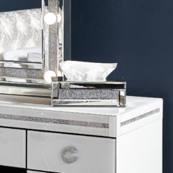 Diamond Crush Standard Mirrored Tissue Box Cover
