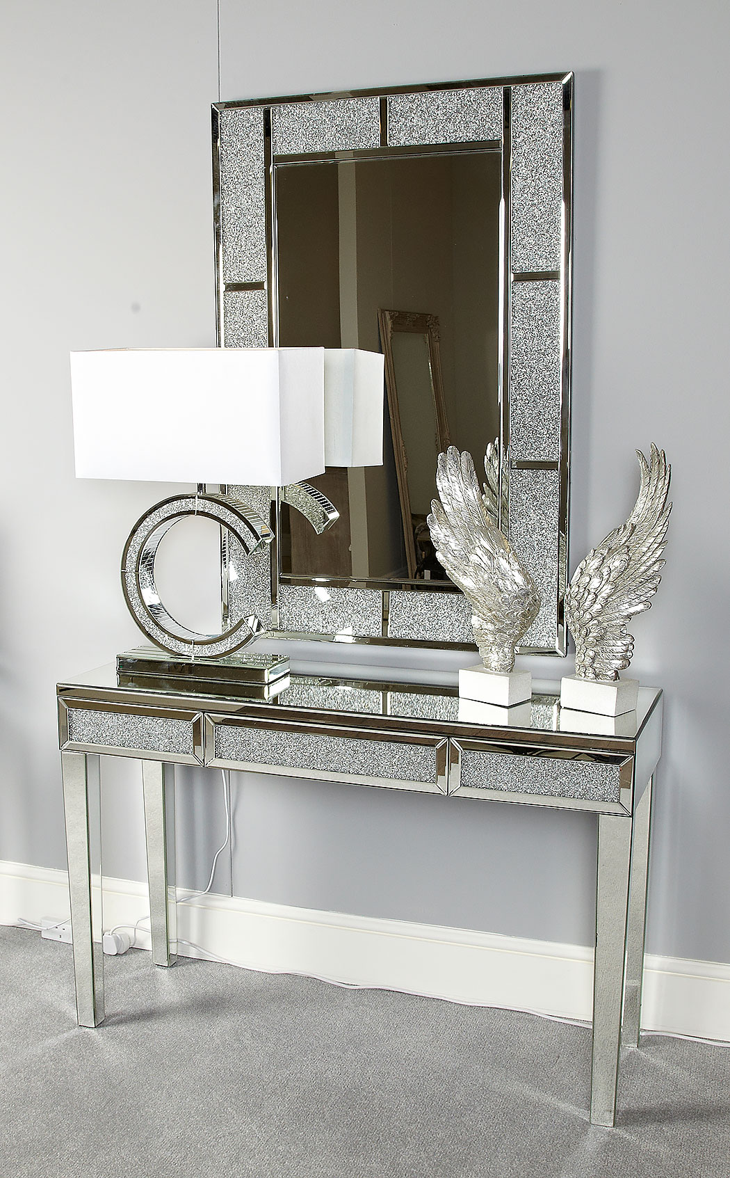 Diamond Glitz Rectangular Wall Mirror