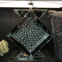 Floating Crystal Clear Glass Table Lamp