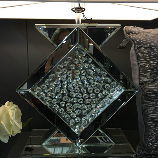 Floating Crystal Clear Glass Table Lamp 20""
