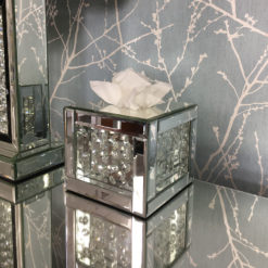 Floating Crystal Square Tissue Box Cover