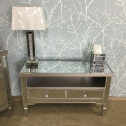Georgia Antique Silver Mirrored TV Entertainment Stand
