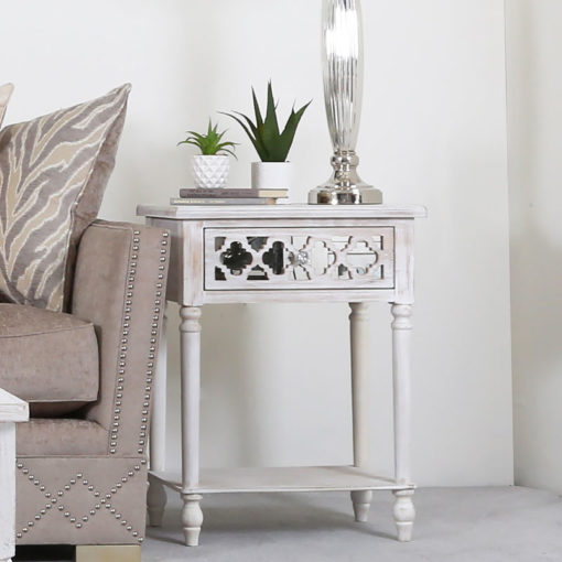 Hampton 1 Drawer Mirrored End Table