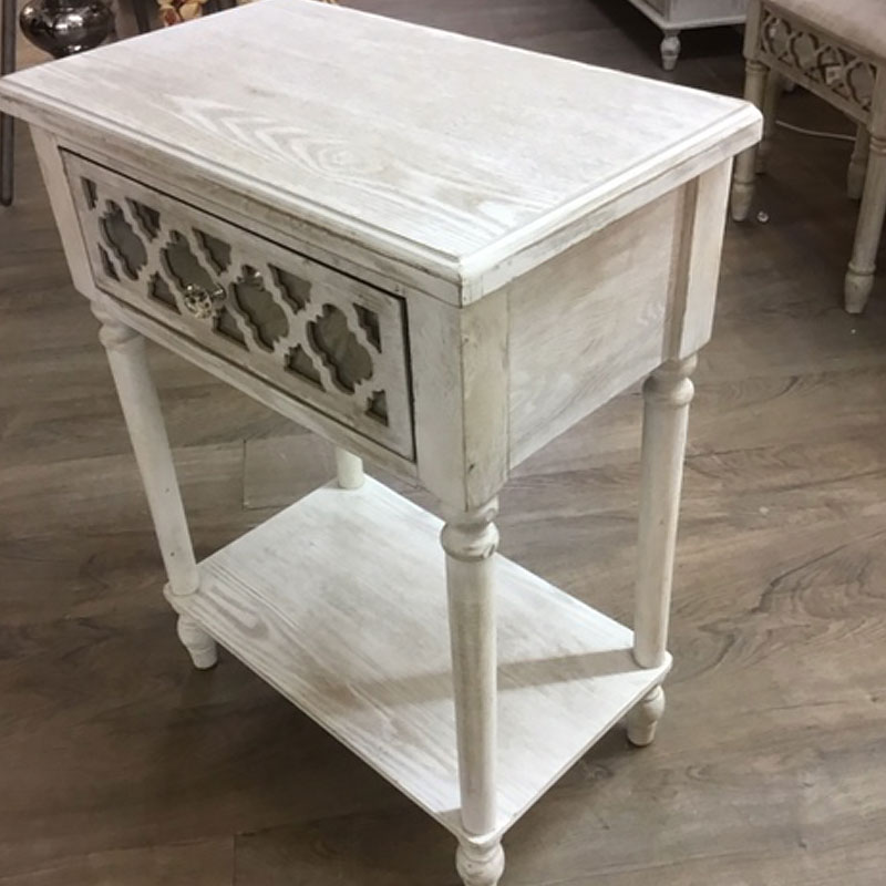 Hampton 1 Drawer Mirrored End Table Picture Perfect Home