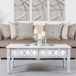 Hampton Mirrored 2 Drawer Coffee Table
