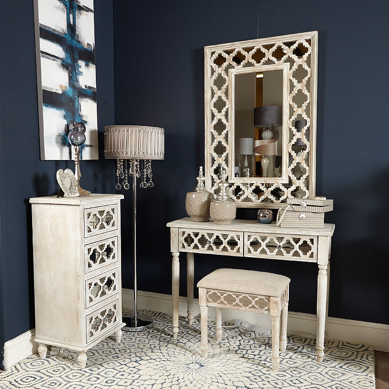 Hampton Mirrored 2 Drawer Dressing Table Picture Perfect