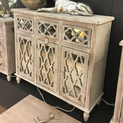 Hampton Mirrored 3 Drawer 3 Door Cabinet