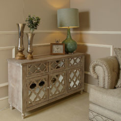 Hampton Mirrored 3 Drawer 3 Door Sideboard
