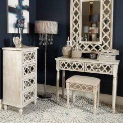 Hampton Mirrored 4 Drawer Cabinet