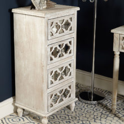 Hampton Mirrored 4 Drawer Cabinet