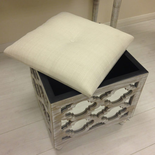 Hampton Mirrored Storage Foot Stool
