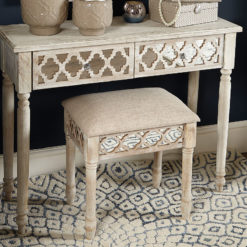 Hampton Mirrored Vanity Stool