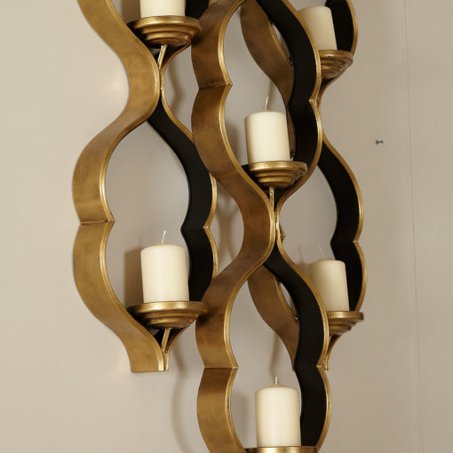 Sahara Marrakech Moroccan Gold 7 Tealight Wall Sconce