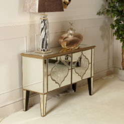 Sahara Gold Mirrored 2 Door Cabinet
