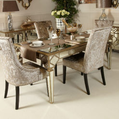 Sahara Gold Mirrored Dining Table