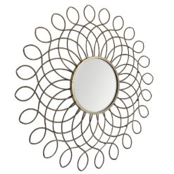 Sahara Gold Scroll Wall Mirror