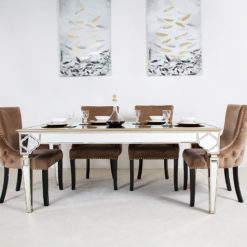 Sahara Marrakech Moroccan Gold Mirrored Dining Table