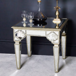 Sahara Marrakech Moroccan Gold Mirrored Square End Table