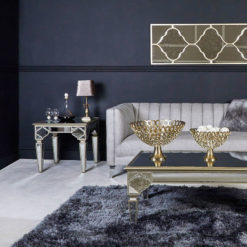 Mirrored End Lamp Table Picture Perfect Home