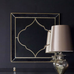 Sahara Marrakech Moroccan Mirrored Gold Large Marbled Wall Mirror