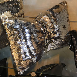 Silver & Rose Gold Mermaid Bow Cushion