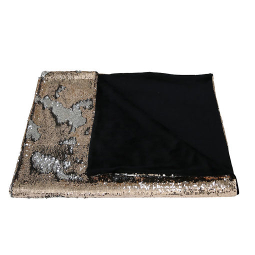 Silver and Rose Gold Mermaid Sequin Throw