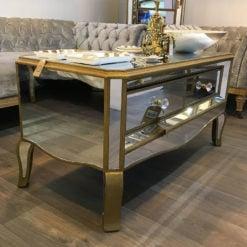 Venetian Gold 2 Drawer Coffee Table